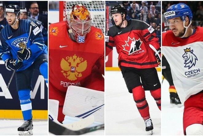 Pasaulio čempionato pusfinalio dalyviai   IIHF nuotr.