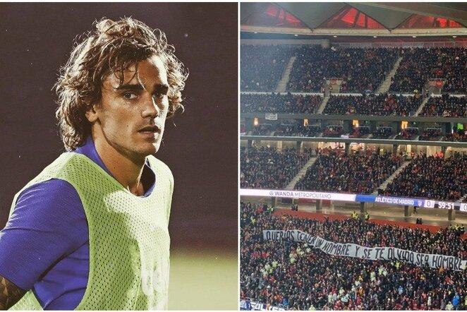 Antoine'as Griezmannas ir sirgalių plakatas | Instagram.com nuotr