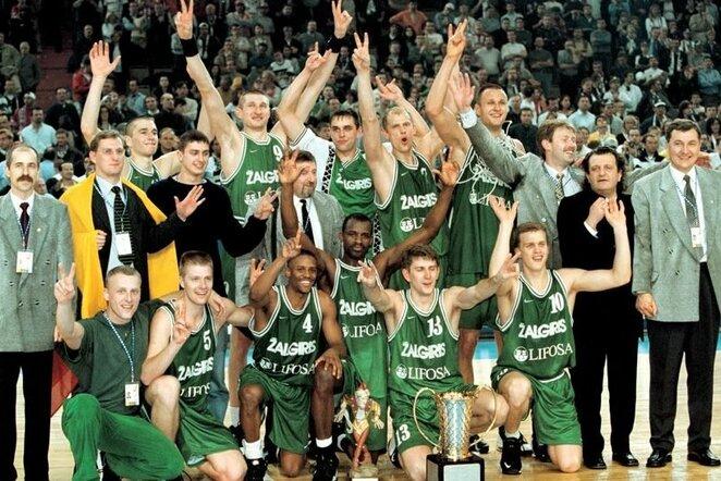 """1999metų """"Žalgirs""""   Euroleague nuotr."""