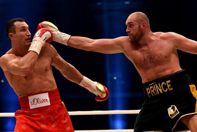 Tysono Fury ir Vladimiro Kličko kova | Scanpix nuotr.