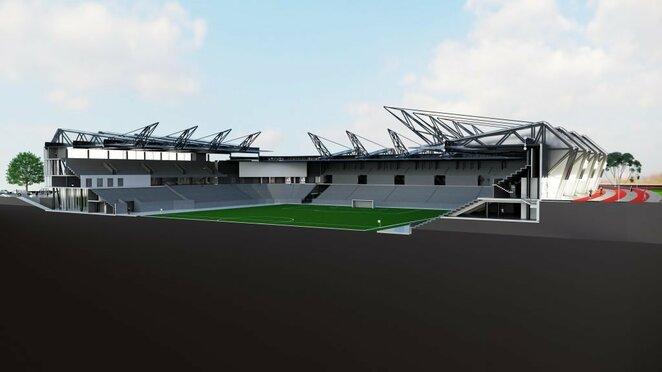 Stadiono maketai   Organizatorių nuotr.