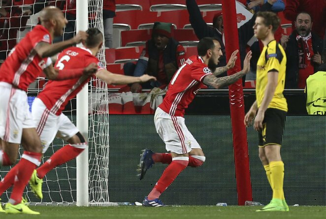 """Benfica"" – ""Borussia"" rungtynių akimirka | Scanpix nuotr."