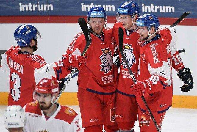 Čekų ir rusų rungtynės | Scanpix nuotr.