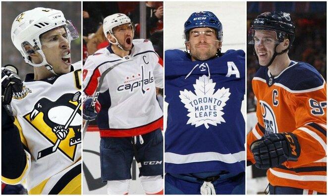 Sidney Crosby, Aleksandras Ovečkinas, Johnas Tavaresas ir Connoras McDavidas   Scanpix nuotr.