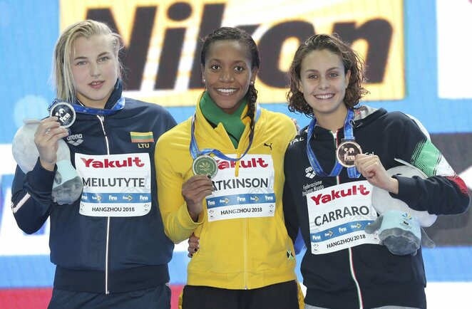 Rūta Meilutytė 2018 metų pasaulio čempionato 50 metrų krūtine rungtyje iškovojo sidabrą   Scanpix nuotr.