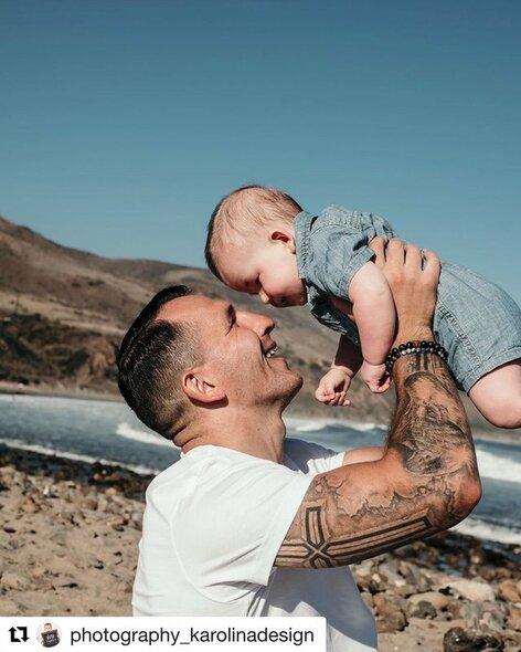 Egidijus Kavaliauskas su sūnumi | Instagram.com nuotr