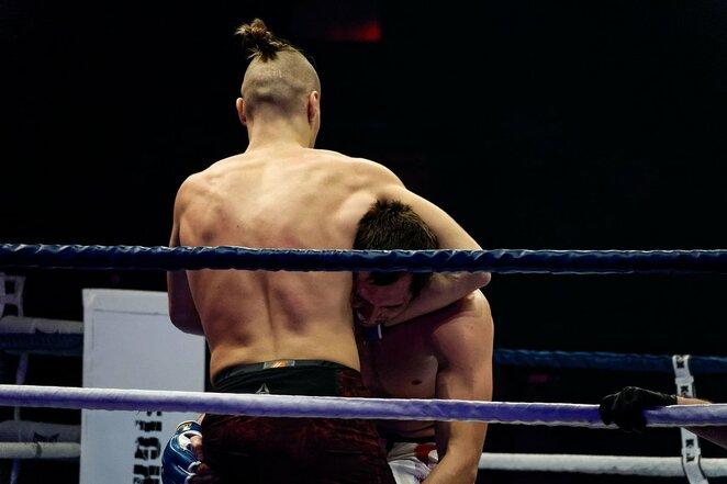 Naglis Kanišauskas atlieka skausmingą veiksmą   Sportas.lt/Tito Pacausko nuotr.