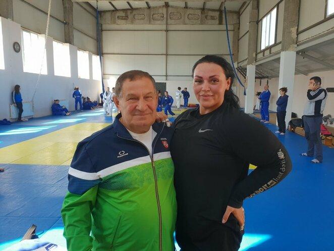 Sandra Jablonskytė su treneriu Eduardu Techovu | Asmeninio archyvo