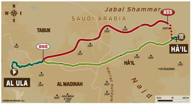 Penktojo etapo žemėlapis | Organizatorių nuotr.