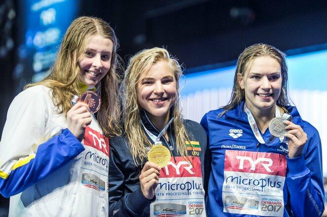 Rūta Meilutytė 2017 metų Europos čempionato po 50 metrų krūtine finalo   Scanpix nuotr.