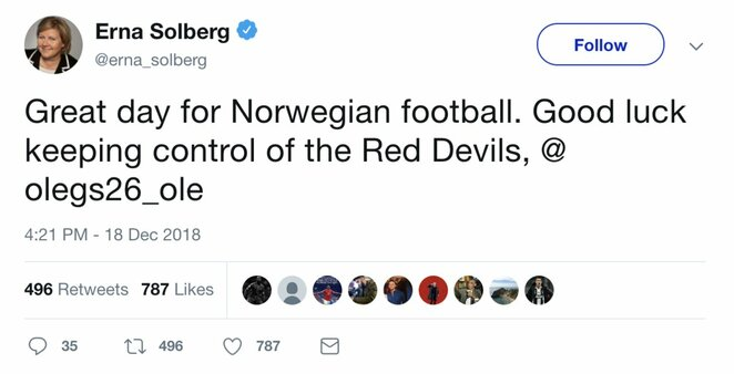 "Ole Gunnaras Solskjaeras | ""Twitter"" nuotr."