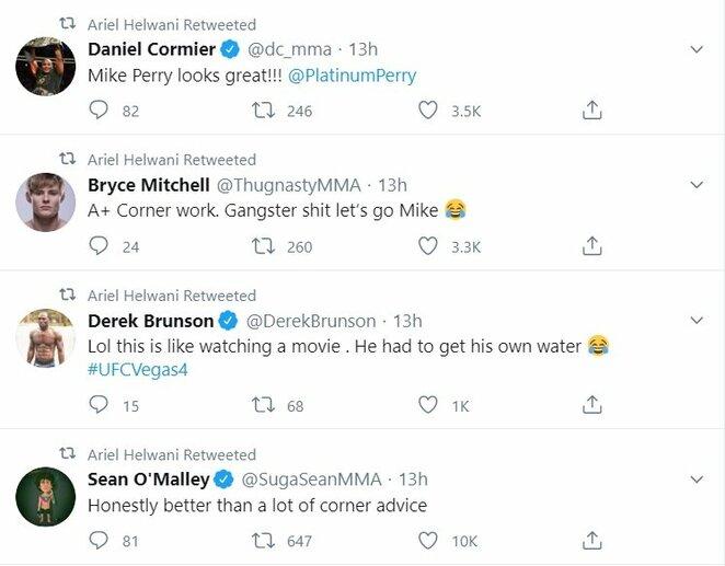 "UFC kovotojų komentarai | ""Twitter"" nuotr."