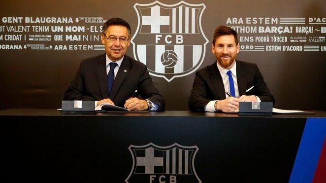Lionelis Messi pasirašo naują kontraktą | Organizatorių nuotr.