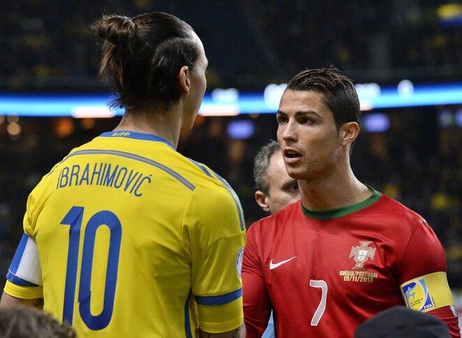 Z.Ibrahimovičius ir C.Ronaldo | Scanpix nuotr.