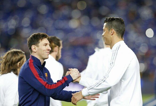 L.Messi ir C.Ronaldo   Scanpix nuotr.