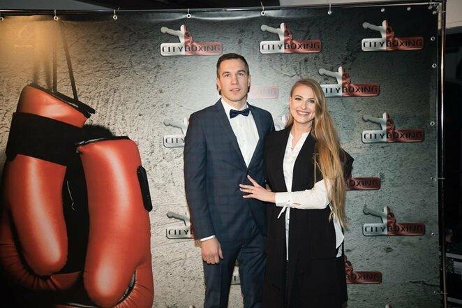 Tadas Tamašauskas su žmona Evelina