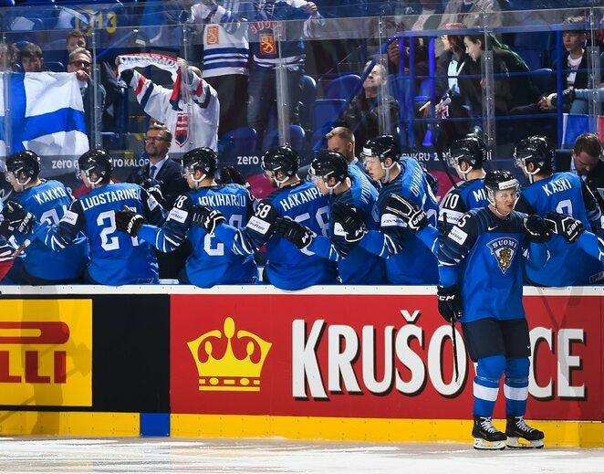 Suomių ir britų rungtynės | IIHF nuotr.