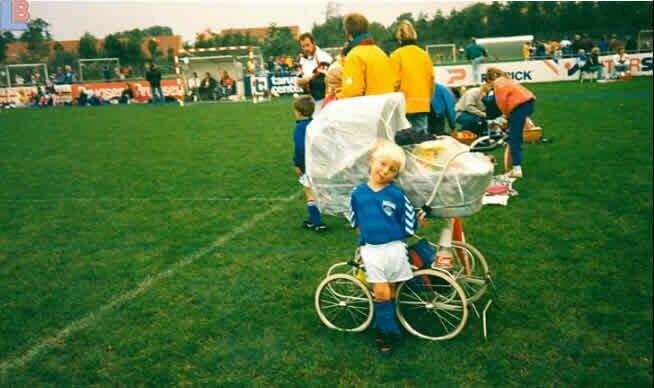 Christianas Eriksenas vaikystėje | asmeninio archyvo nuotr.