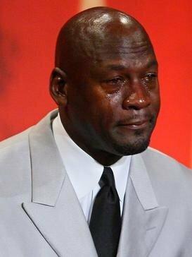 """Plačiai žinomas Michaelo Jordano """"memas""""   """"Twitter"""" nuotr."""