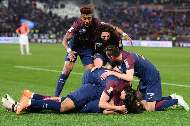 """Prancūzijos lygos taurės finalas: Paryžiaus PSG - """"Monaco"""" (2018.03.31)   Scanpix nuotr."""