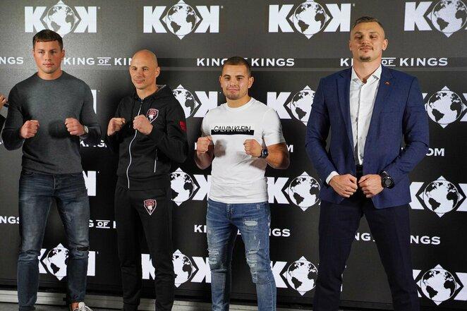 Erikas Golubovskis, Sigitas Gaižauskas, Ignas Barysas ir Sergejus Maslobojevas   Sportas.lt/Tito Pacausko nuotr.
