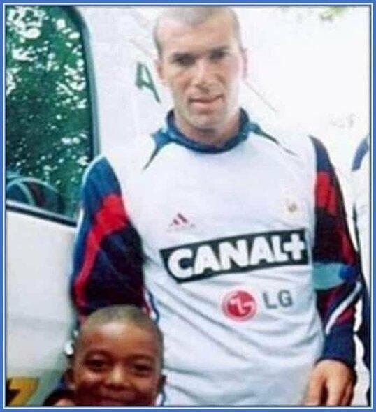 Kylianas Mbappe su Zinedine'u Zidane'u | asmeninio archyvo nuotr.