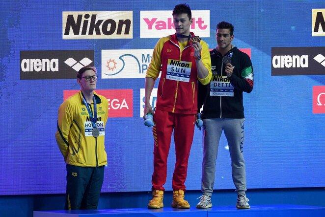 Olimpinio čempiono protestas   Scanpix nuotr.