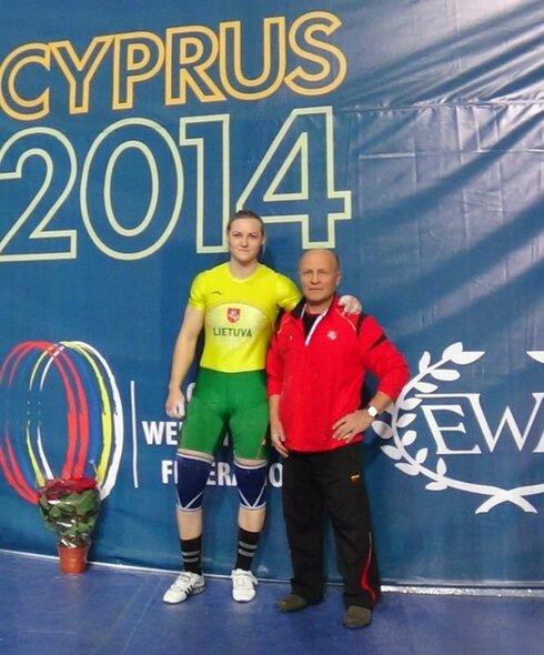 Gintarė Bražaitė su treneriu Algirdu Ananka   asmeninio archyvo nuotr.