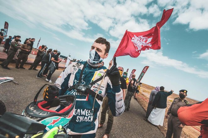 "A.Gelažninko finišas 12-ame greičio ruože | ""Zigmas Dakar Team"" nuotr."