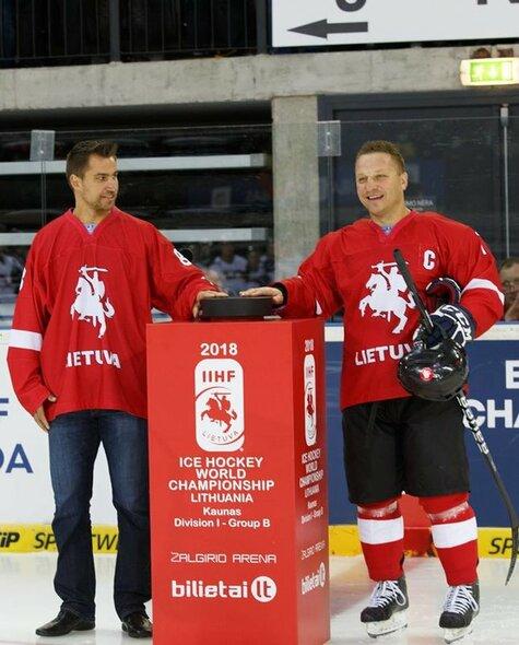 Dainius Zubrus ir Darius Kasparaitis | hockey.lt nuotr.