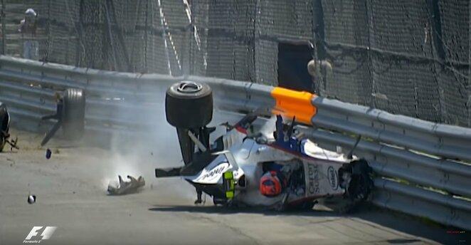 Roberto Kubicos avarija 2007 m. Kanados GP lenktynėse | Youtube.com nuotr.