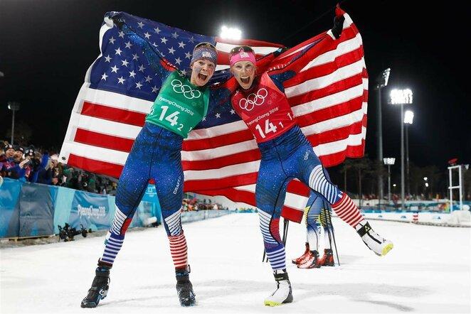 Moterų slidinėjimo laisvuoju stiliumi komandinio sprinto finalas | Scanpix nuotr.