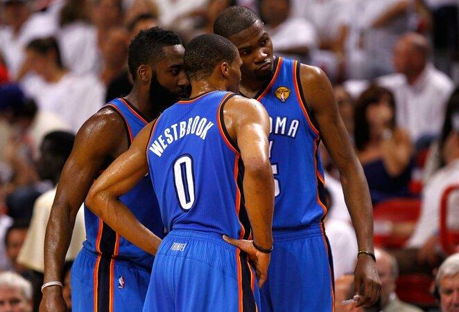 Hardenas, Westbrookas, Durantas | Scanpix nuotr.