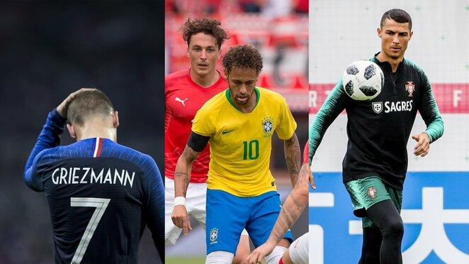 A.Griezmannas, Neymaras ir C.Ronaldo | Scanpix nuotr.