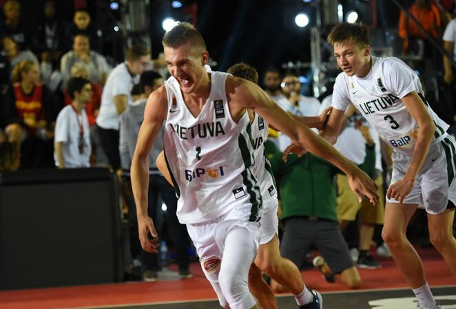 Lietuvos jaunių 3x3 krepšinio rinktinė   FIBA nuotr.