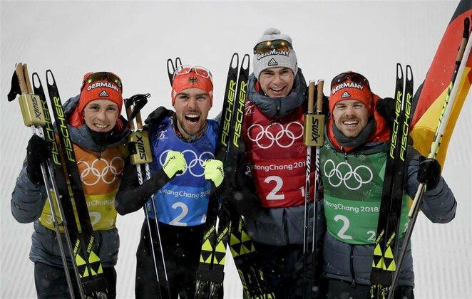 Vyrų šiaurės dvikovės komandinės varžybos, 4x5 km slidinėjimo estafetė | Scanpix nuotr.