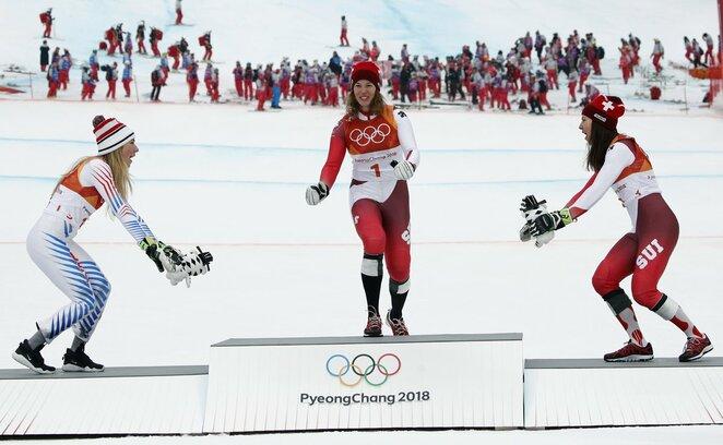 Moterų kalnų slidinėjimo dvikovė | Scanpix nuotr.