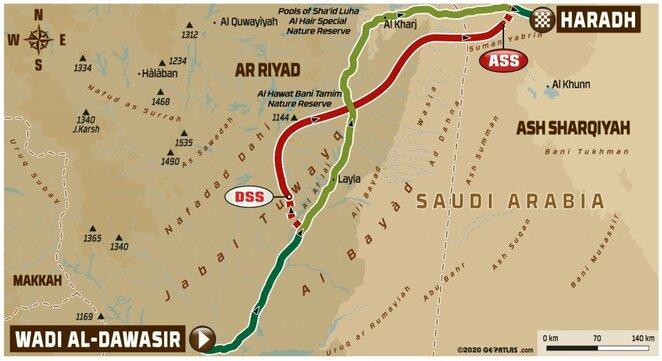 Devintojo etapo žemėlapis   Organizatorių nuotr.