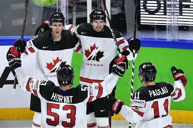 Kanadiečių ir amerikiečių rungtynės | Scanpix nuotr.
